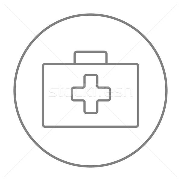 Eerste hulp uitrusting lijn icon web mobiele Stockfoto © RAStudio
