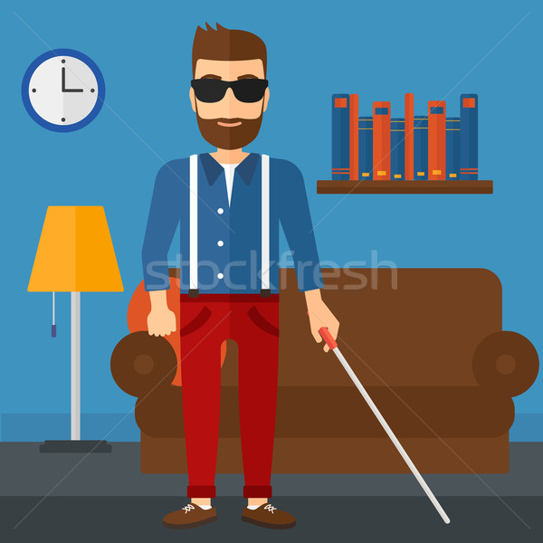 Blind man with stick. Stock photo © RAStudio