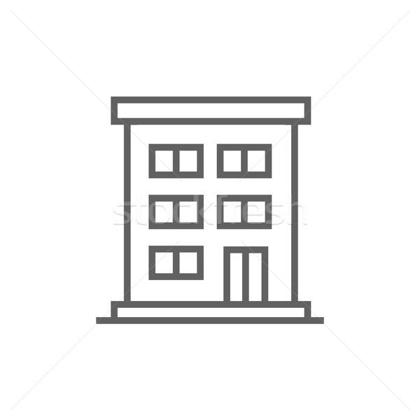 Residential buildings line icon. Stock photo © RAStudio