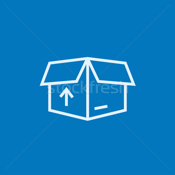 Stock photo: Carton package box line icon.