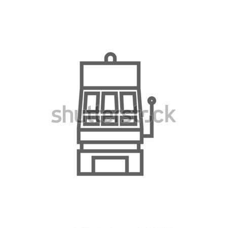 Játékautomata vonal ikon sarkok háló mobil Stock fotó © RAStudio