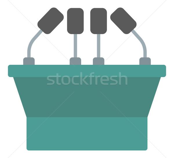 Seminar speech podium with microphones Stock photo © RAStudio