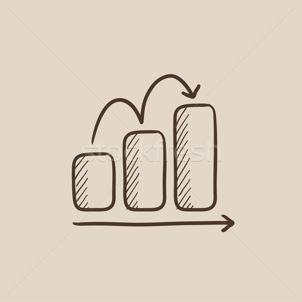 Oszlopdiagram rajz ikon háló mobil infografika Stock fotó © RAStudio