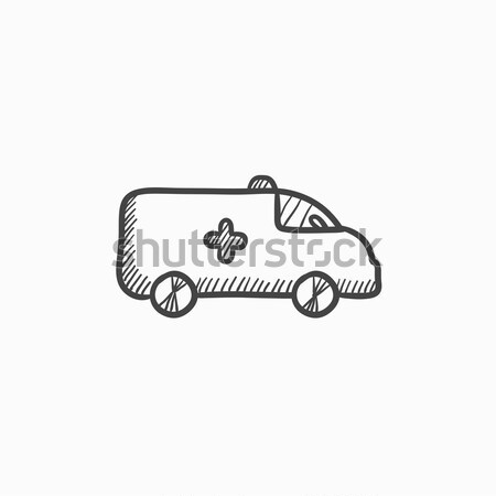 Ambulance car sketch icon. Stock photo © RAStudio