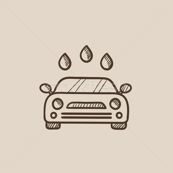 Car wash schets icon web mobiele infographics Stockfoto © RAStudio