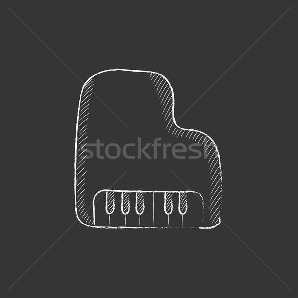 Piano. Drawn in chalk icon. Stock photo © RAStudio