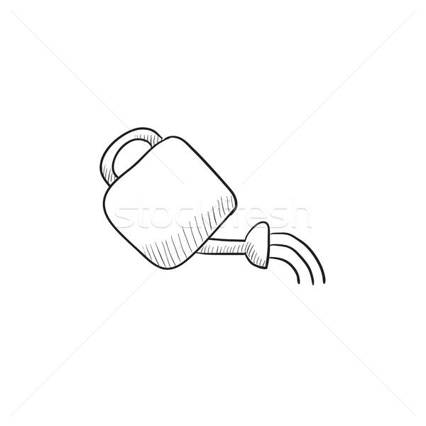 じょうろ スケッチ アイコン ベクトル 孤立した 手描き ストックフォト © RAStudio