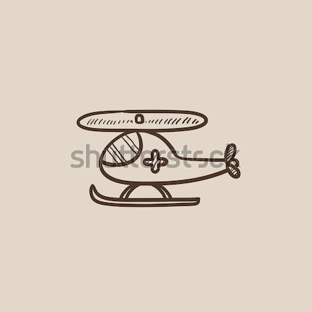 Сток-фото: воздуха · скорой · эскиз · икона · вектора · изолированный