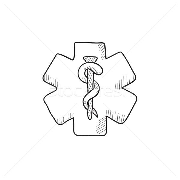 Medical symbol sketch icon. Stock photo © RAStudio