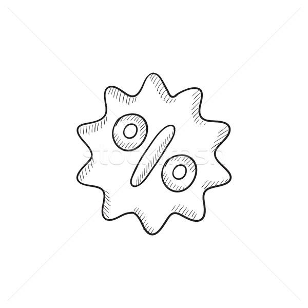 Discount tag sketch icon. Stock photo © RAStudio