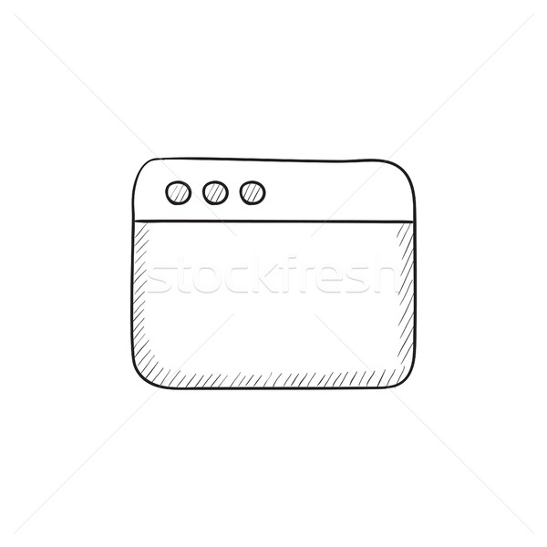 Ventana Internet navegador boceto icono vector Foto stock © RAStudio