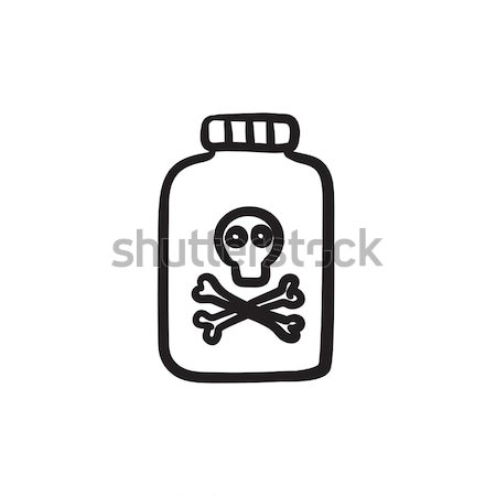 Bottle of poison sketch icon. Stock photo © RAStudio
