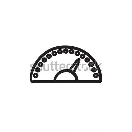 Velocímetro esboço ícone vetor isolado Foto stock © RAStudio