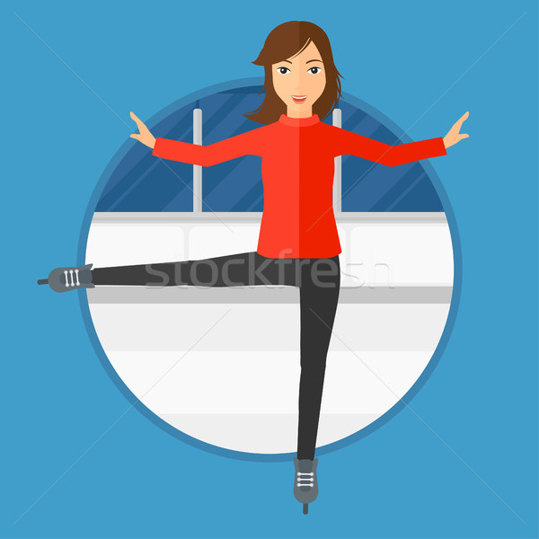 Female figure skater. Stock photo © RAStudio