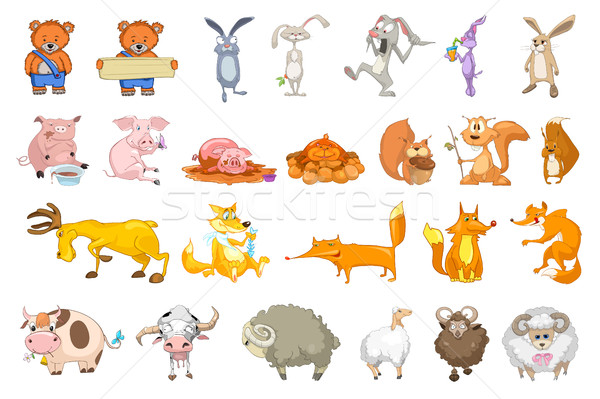 Vector set of animals illustrations. Stock photo © RAStudio