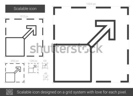 Scalable line icon. Stock photo © RAStudio