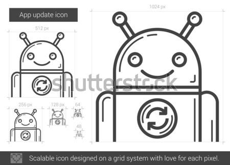 App aktualizacja line ikona wektora odizolowany Zdjęcia stock © RAStudio