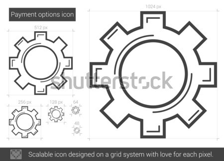 Payment options line icon. Stock photo © RAStudio