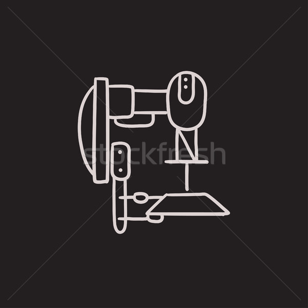 Industrial automated robot sketch icon. Stock photo © RAStudio