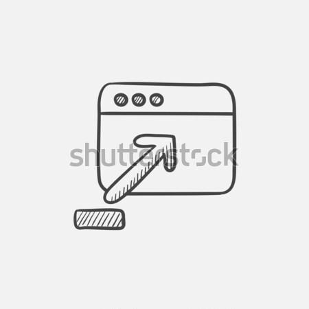 Böngésző ablak feltöltés felirat rajz ikon Stock fotó © RAStudio