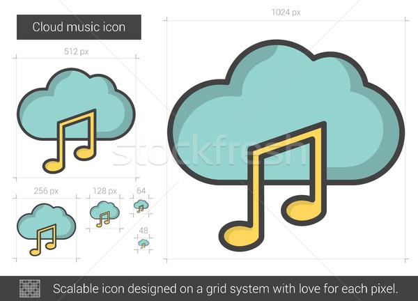 облаке музыку линия икона вектора изолированный Сток-фото © RAStudio