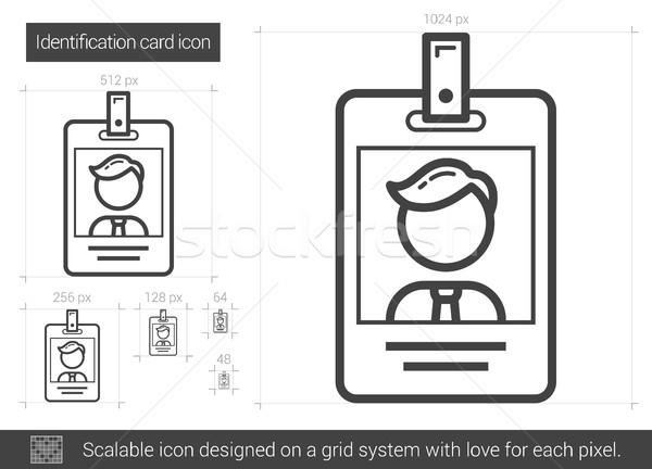 識別 カード 行 アイコン ベクトル 孤立した ストックフォト © RAStudio