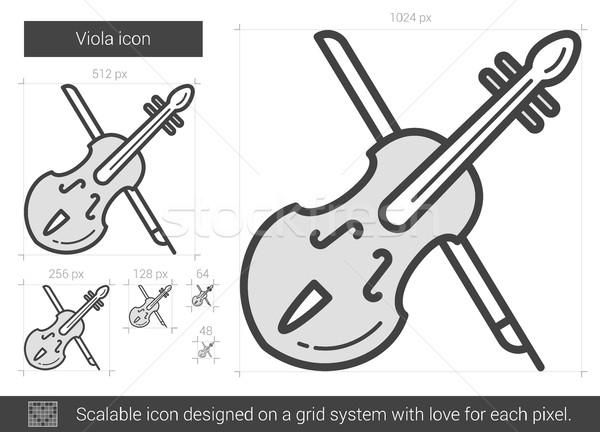 Viola line icon. Stock photo © RAStudio