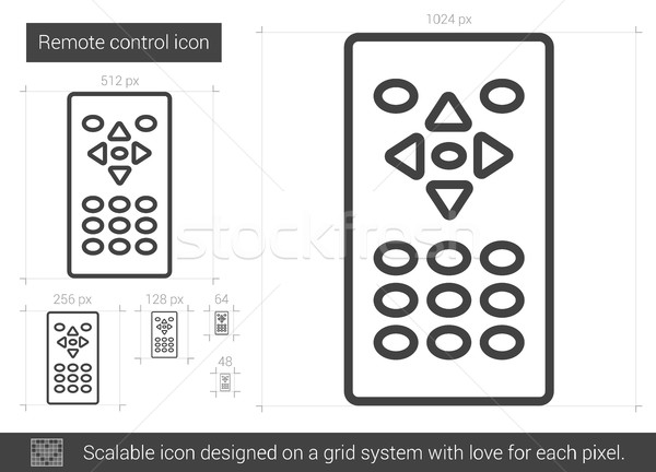 Remote control line icon. Stock photo © RAStudio