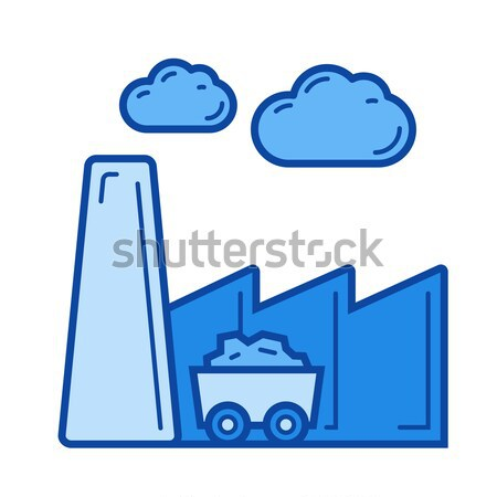 Harmful emissions line icon. Stock photo © RAStudio