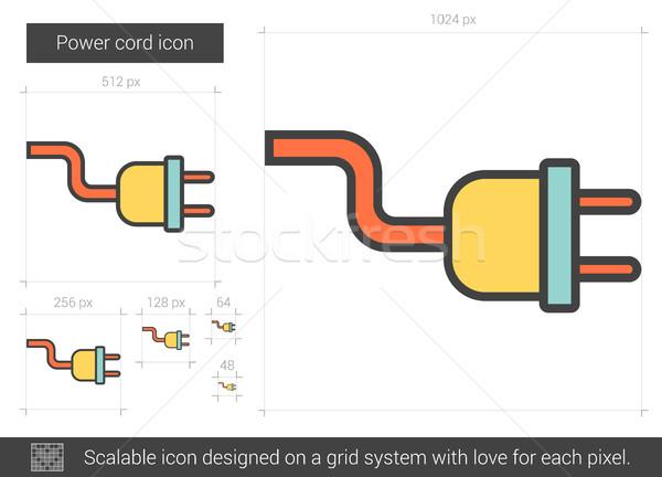 Poder cordão linha ícone vetor isolado Foto stock © RAStudio