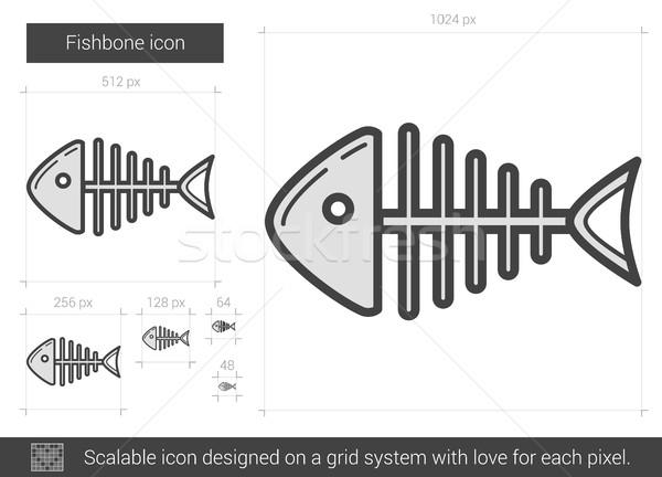 Szálka vonal ikon vektor izolált fehér Stock fotó © RAStudio