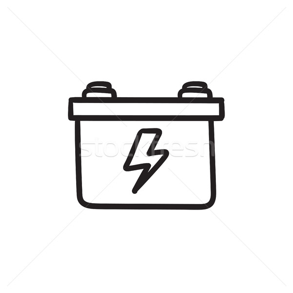 Car battery sketch icon. Stock photo © RAStudio