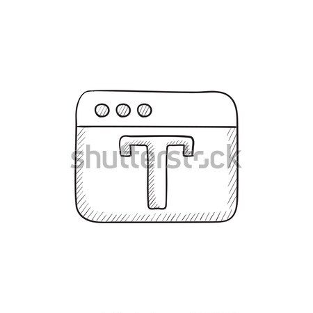 Design editor tool sketch icon. Stock photo © RAStudio