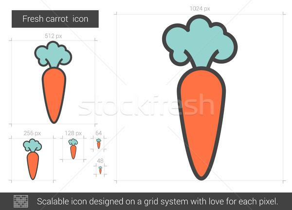 Fresche carota line icona vettore isolato Foto d'archivio © RAStudio
