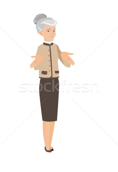 кавказский деловой женщины Плечи путать старший сомнительный Сток-фото © RAStudio