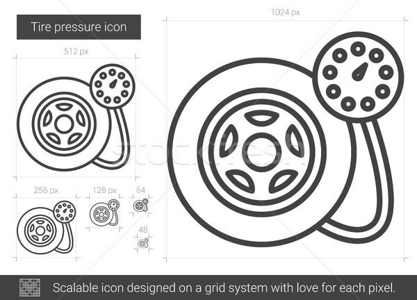 Tire pressure line icon. Stock photo © RAStudio