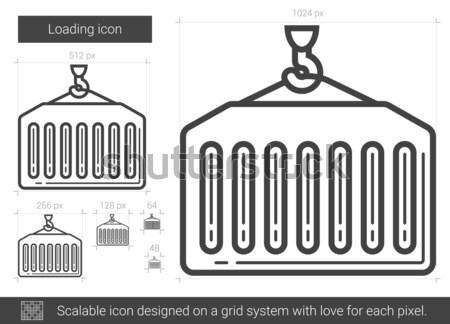 Loading line icon. Stock photo © RAStudio