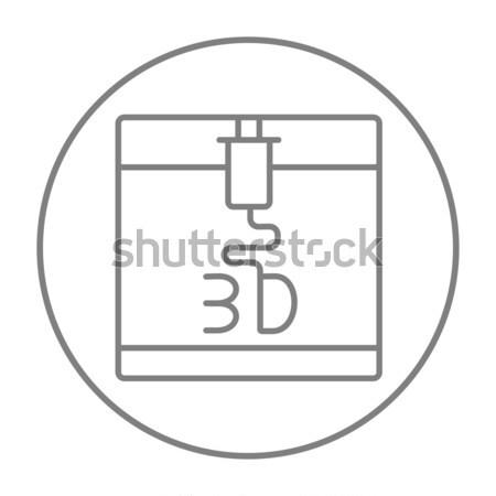 ツリー 印刷 行 アイコン コーナー ウェブ ストックフォト © RAStudio