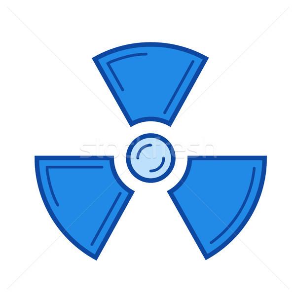 Radiation line icon. Stock photo © RAStudio