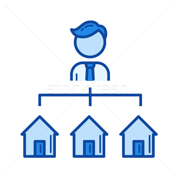Stock photo: Real estate agent line icon.
