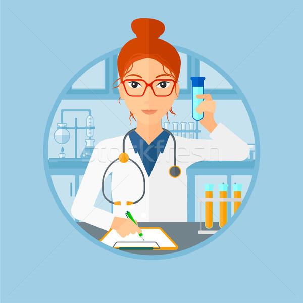 Laboratorium asystent pracy medycznych test Zdjęcia stock © RAStudio