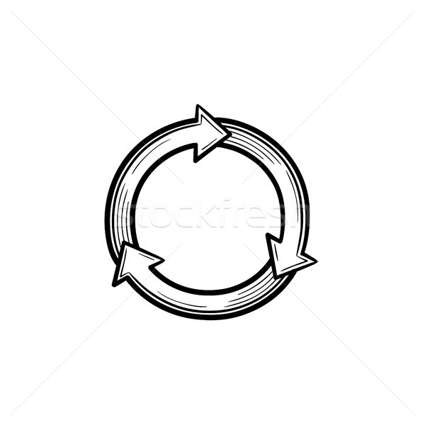 Reuse and refresh symbol hand drawn sketch icon. Stock photo © RAStudio