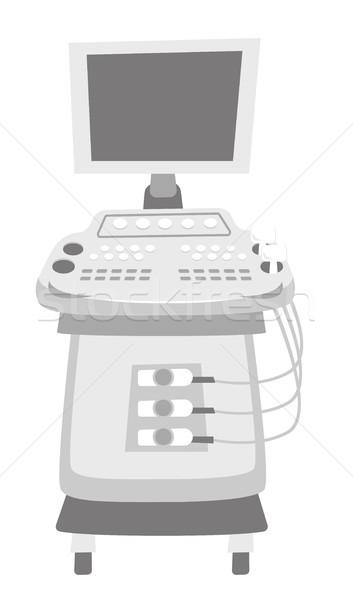 Ultrasound diagnostic machine vector illustration. Stock photo © RAStudio