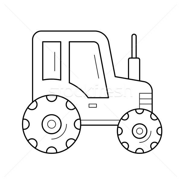 Zugmaschine line Symbol Vektor isoliert weiß Stock foto © RAStudio