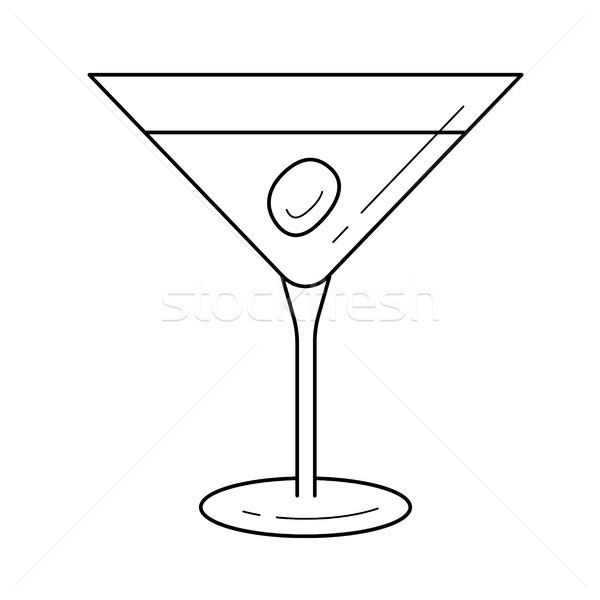 Liquor vector line icon. Stock photo © RAStudio