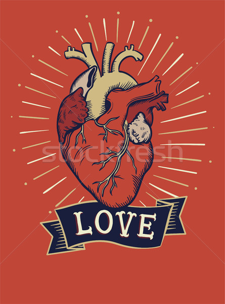 Love concept t-shirt print and embroidery Stock photo © RAStudio