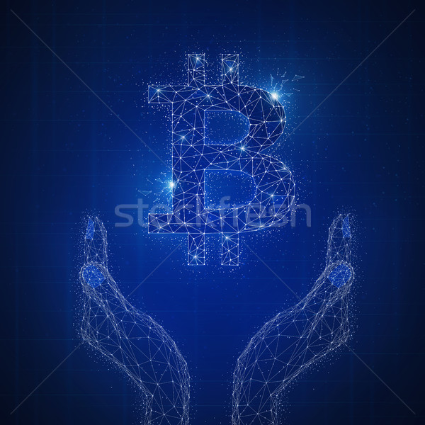 Blockchain technology futuristic hud banner. Stock photo © RAStudio