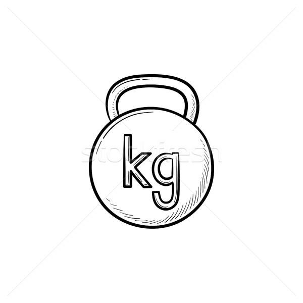ケトルベル 手描き いたずら書き アイコン ジム ストックフォト © RAStudio