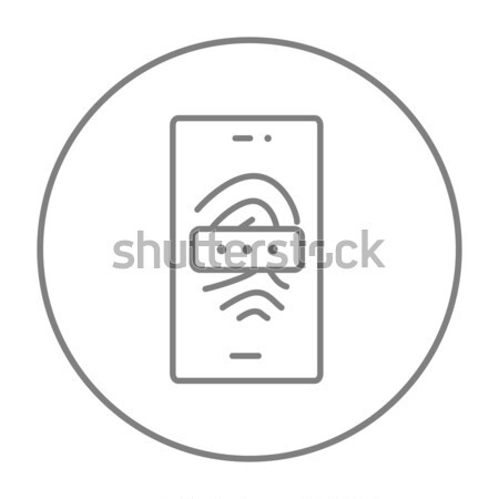 Wifi dun lijn icon web mobiele Stockfoto © RAStudio