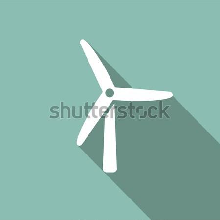 Windmill thin line icon Stock photo © RAStudio